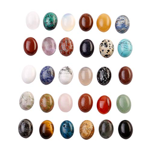 Charms Mixed Natural Stone CAB CABOCHON Teardrop Beads for Jewelry Making 13mmx18mm (50)