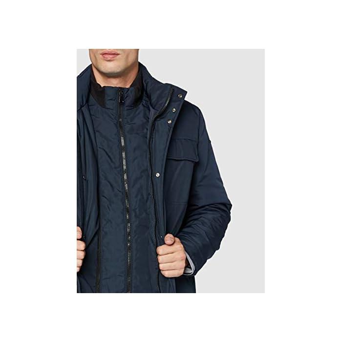 417g mM1KFL Abrigo formal con 4 bolsillos, una prenda informal para el uso cotidiano 100% Poliéster Cierre: Con tapa.