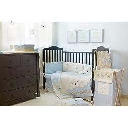 Blue Bunny Girl's 4 Piece Crib Bedding Set Crib Bedding Collection