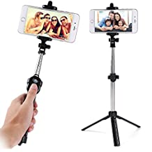 Universal Bluetooth Remote Control Christmas Party Selfie Stick for Sony Xperia / HTC Desire / Huawei Honor / P9 / P8 Lite / SnapTo / LG G Stylo / Iphone 6s Plus / 7 / ALCATEL OneTouch Idol 3