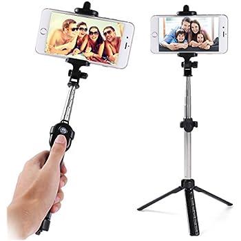 samsung galaxy s8 s8 plus s8 s7 edge selfie stick extendable tripod with. Black Bedroom Furniture Sets. Home Design Ideas