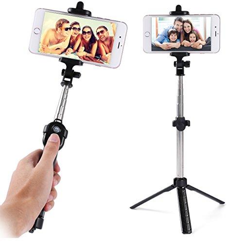 Black Huawei Honor 5C/P9 Plus/Mate/Note 8/V8 Max/G9 Plus Selfie-Stick Tripod Bluetooth Remote