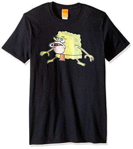 [Nickelodeon Men's Spongebob Caveman Meme T-Shirt, Black, Large] (Spongebob Dress)