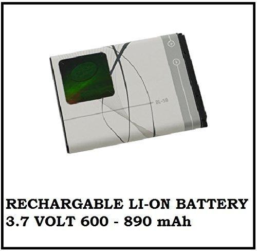 BL-5B Lithium (Li-On) Rechargable Battery, 3.7V, 600 mAh - 890 mAh - For Nokia Phones & Bluetooth Speakers RockDoc 6W