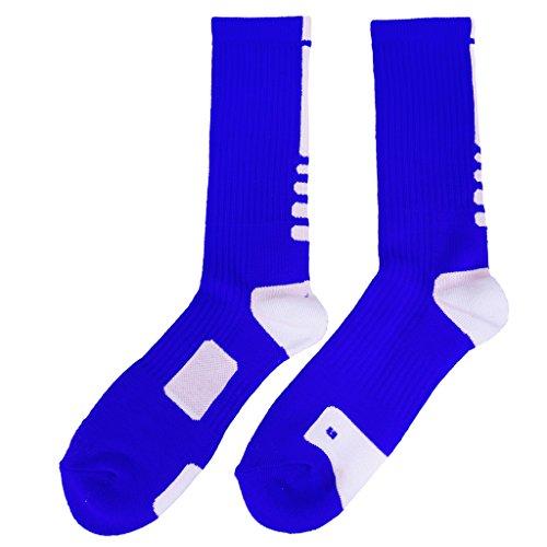 Secado Rápido de Sudor Calcetines Toalla Tubo Al Aire Libre Calcetines De Baloncesto Atléticos para Hombres - Rojo Azul