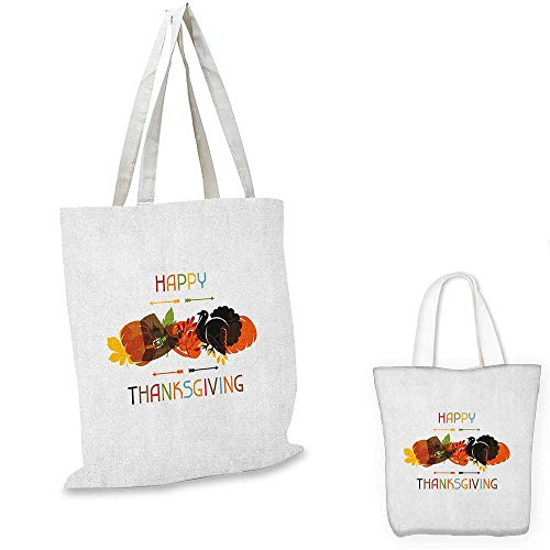 - Turkey shopping bag Bird Pumpkin Traveller`s Hat Silhouette with Celebratory Thanksgiving Illustration foldable shopping bag Multicolor. 12