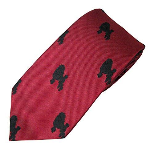 Poodle (Black) Tie (Men's Dog Breed Neck Tie)