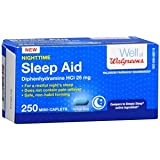 For a restful night's sleep Does not contain pain reliever Safe, non-habit forming Walgreens pharmacist recommended* *Walgreens pharmacist survey study, November 2010. 100% Satisfaction guaranteed with all Walgreens products or your money back. Warni...