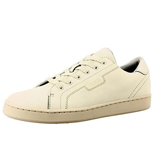 Guess Sneaker Hombre Allan Cuero Ivory Blanco