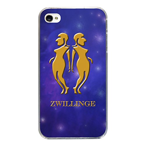 "Disagu Design Case Coque pour Apple iPhone 4 Housse etui coque pochette ""Zwillinge"""