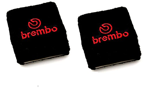 - BREMBO Brake Clutch Oil Black Reservoir Cover x2 Fit NISSAN 370 S14 S13 240z S15-Black with red Brembo