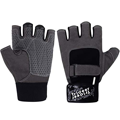 Trideer Double Protection Weight Lifting Gym Gloves