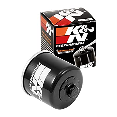 K&N Motorcycle Oil Filter: High Performance Black Oil Filter with 17mm nut designed to be used with synthetic or conventional oils fits Suzuki motorcycles GSXR GSX RF VS GSF TL KN-138: Automotive