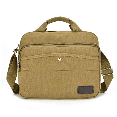 Color : Khaki KRPENRIO Canvas Travel Bags Large Capacity Mens Travel Bags Durable Canvas Travel Bags Travel Fitness Travel Bags