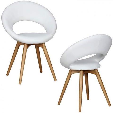 Wohnling Esszimmerstühle Linda gepolstert, mit Holz Beinen und Rücken Lehne, Polsterstuhl im Skandinavischem Design, Design Küchenstühle Retro