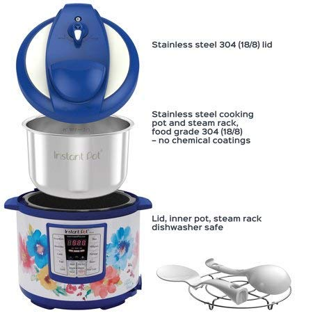 Pioneer Woman Instant Pot 6qt 6 Quart Programmable Pressure Cooker Slow Electric Multi Use Rice Saute Cooking Steamer Warmer by Home Joy (Image #3)