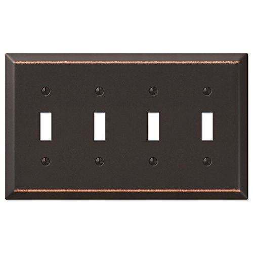 Four Toggle Wall Switch Plate - Oil Rubbed Bronze