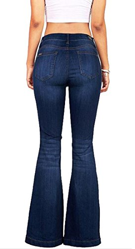 Blue Denim Flared Jeans - 7