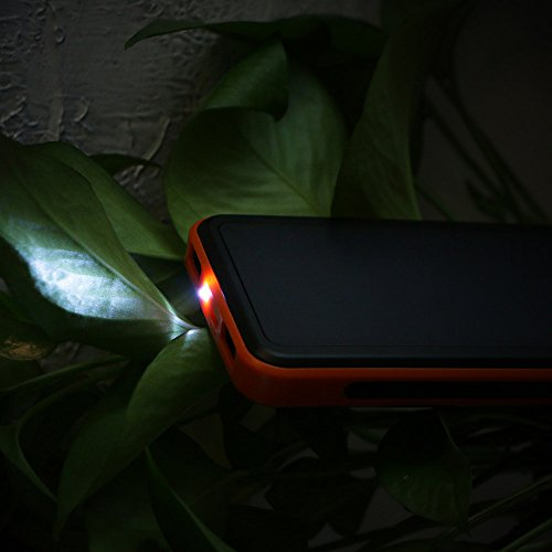 ALLPOWERS Solar Charger 15000mAh lightweight electric power Bank by wil of  SUNPOWER Solar Panel largest Efficiency rapid cost 45A expenditure for cell mobile iPhone iPad SamsungOrange Luggage Bags