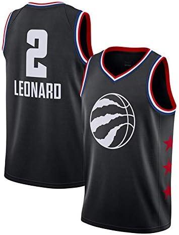 YSAメンズバスケットボールウェア-サマーバスケットボールTシャツNBAラプターズ2レナードファンジャージクラシック刺繍ノースリーブベスト