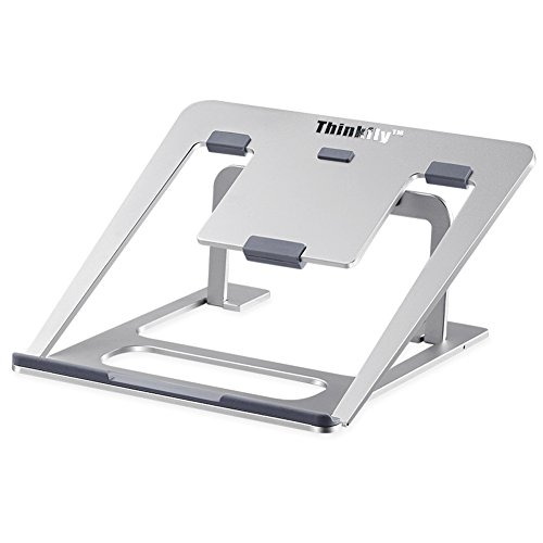 "Compact Notebook (Thinkfly Aluminum Adjustable Laptop Stand for Macbook Air Pro / Notebook / Tablet / iPad, Universal 6 Levels Adjustable Foldable Portable Up to 17"" Metal Stand)"