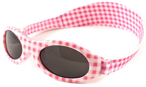 Baby Banz Pink Gingham Adventure 0-2 years Wrap Sunglasses Size Baby