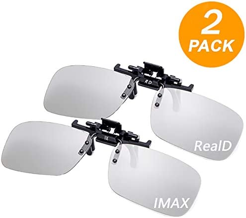 [해외]FireKylin 3D Clip on Glasses for MoviesCinemaPassive 3D TV (RealD & IMAX 2 Pcs) / FireKylin 3D Clip on Glasses for MoviesCinemaPassive 3D TV (RealD & IMAX 2 Pcs)