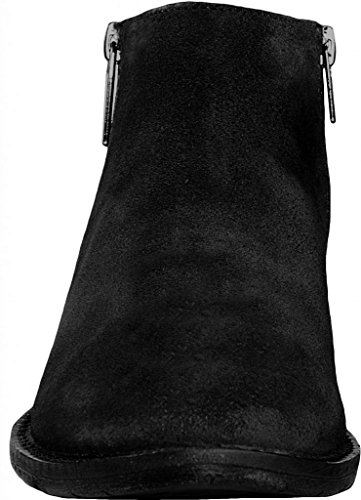 Cavalone Womens Suede Leather Pointed Toe Ankle Booties Saga Black 4XiNB8tx