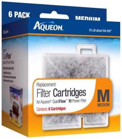Aqueon Medium Cartridge 6 Pack **Free Shipping**