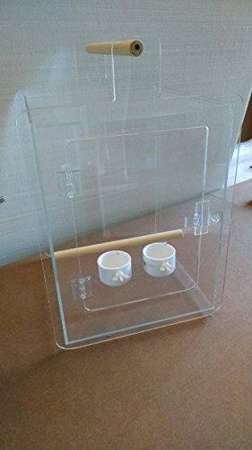Acrylic Bird Carrier- Travel Cage-...