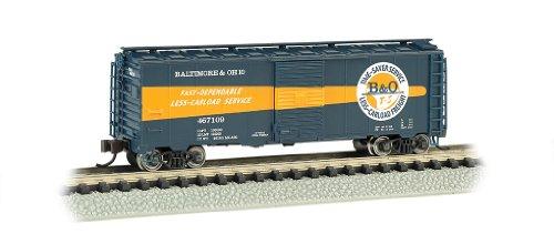 Bachmann Industries Aar 40 Foot Steel Box Car B and O Timesaver, N Scale