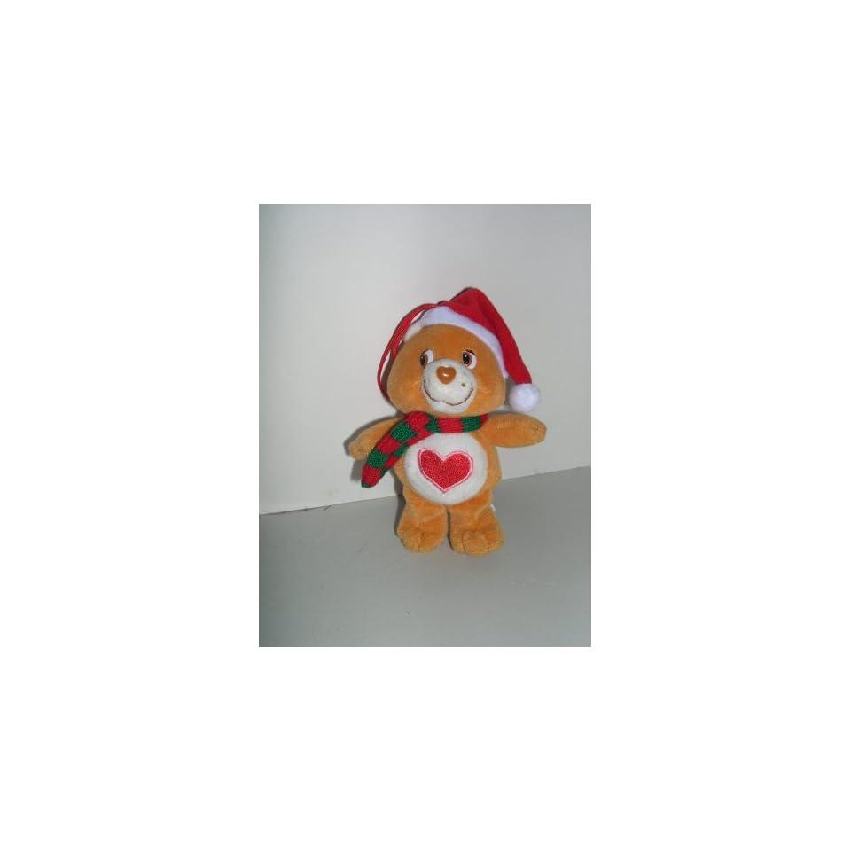 5 Care Bear Tender Heart Plush Christmas Tree Ornament
