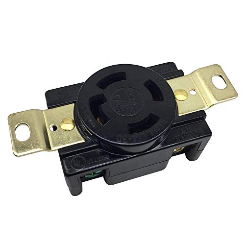 NEMA L14-30R Locking Receptacle 30A 125V 250V Industrial Grade 3 Pole 4 Wire Flush Mounting Connector Socket UL Listed 30a 125v Locking Receptacle