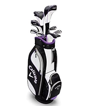 e8a6690b9a Callaway Golf Solaire 9 Piece Ladies Golf Set with Stand Bag- Right Handed   Amazon.co.uk  Sports   Outdoors