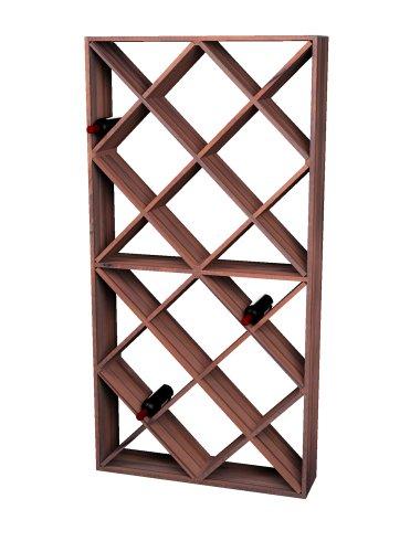Wine Cellar Innovations Rustic Pine Solid Diamond Bin Wine Rack for 208 Wine Bottles, Dark Walnut ()