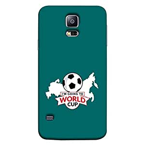 ColorKing Samsung S5 Football Green Case shell cover - Fifa Cup 13