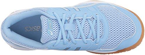 Asics 8 Silver Airy Blue Femmes White Gel Chaussures Rocket® Pour q4TBtrqSw