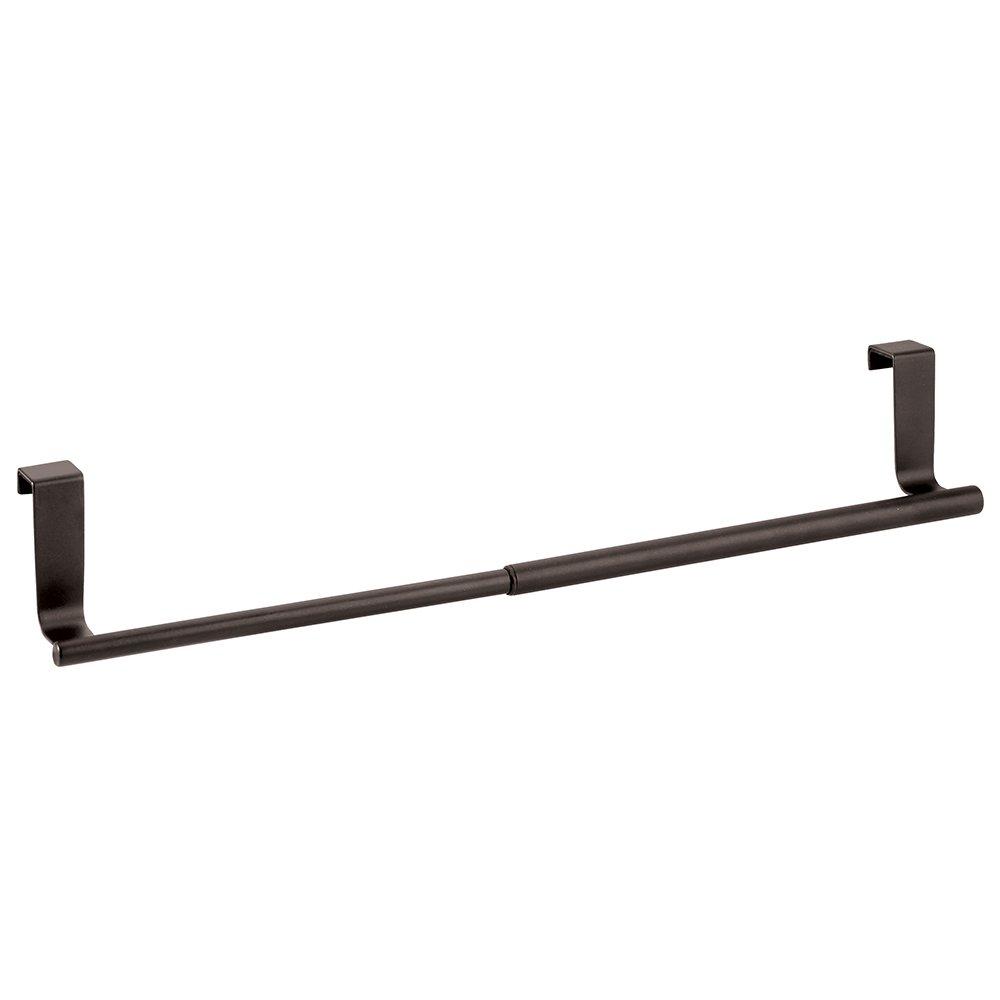 InterDesign Forma Over-the-Cabinet Expandable Kitchen Dish Towel Bar Holder - Black 29367