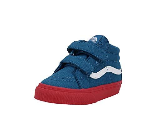 Vans SK8 Mid Reissue V Cosplay Blue/Red Infant/Toddler Shoes Boys/Girls (5.0) (Red Vans Infant)