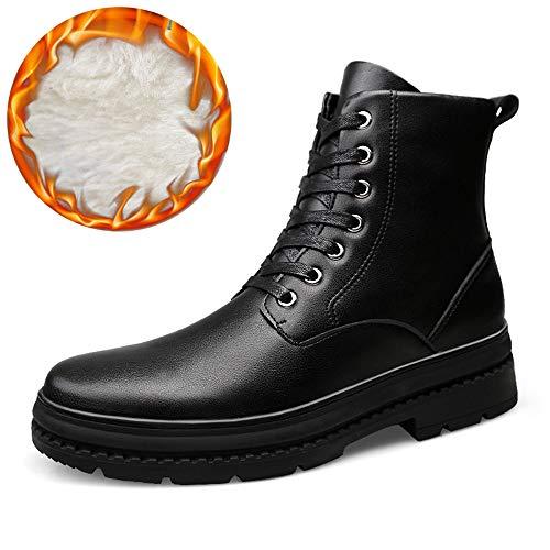 color Moda Eu Para Altas Yajie Black Black Hombre suela Opcional Warm boots 40 Botines Matte Botas Casuales Impermeables Y De Martin Terciopelo Tamaño w11cSZIq