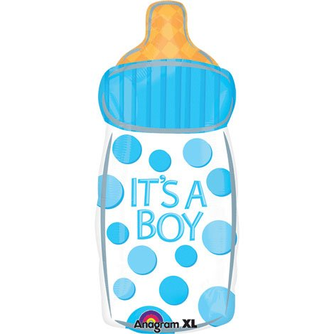 26 It's a Boy Baby Bottle Junior Shape Foil Balloon (1 Per Package) by Anagram