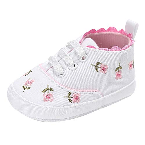 Girls Trainers Newborn Infant Baby Girls Floral Crib Shoes Soft Sole Anti-slip Sneakers Canvas 0-18 Months Sinwasd Baby Shoes