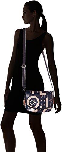 cm Shoppers 8x19x26 Mujer Dark Letters de y Lori hombro bolsos Blue Azul x Shf T Oilily B H Shoulderbag wIRz6BOxq