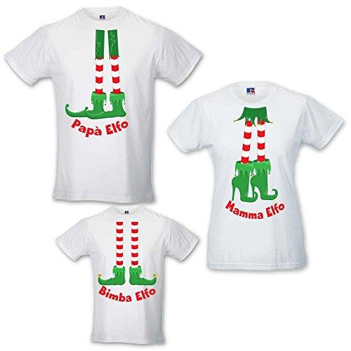shirt Adulti Poker Bianche O Bambino Elfo Di Regalo E Idea Family Body T Tris Natale FBxIw