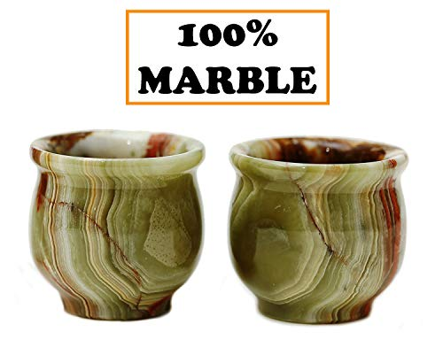 Shot Glasses Sake Cups Handmade Marble Tequila Shots Glass - Sake Cup and Non communion cups Double Shot Glasses - Outside Wine champagne Pilsner Glass For Men, Women and Home ()