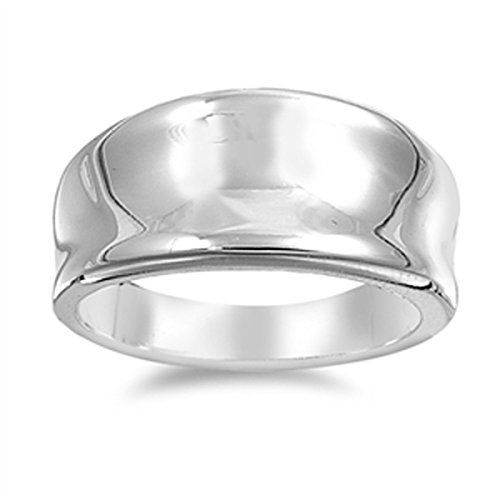 Wide Concave Ring - 9