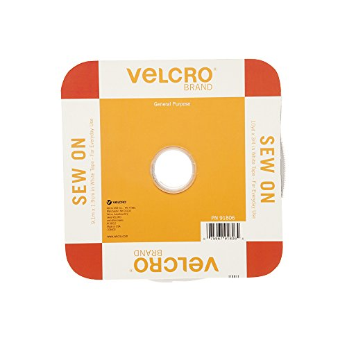 VELCRO Brand For Fabrics | Sew On Fabric Tape for Alterations and Hemming | No Ironing or Gluing | Ideal Substitute for Snaps and Buttons | Tape, 30ft x 3/4in, White