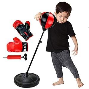 JXQ-N Sac De Boxe De Boxe Sport avec Gants, Pompe à Main Et Support Réglable en Hauteur - Balle De Frappe pour Enfants… 11