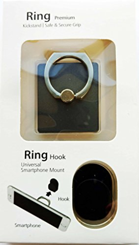 YaSaShe Ring Phone Grip Car Mount/Stand/Holder/Kickstand for iPhone 7/7 Plus/SE/6S/6/6S Plus/6 Plus/Google Pixel/Google Pixel XL/Galaxy S7 and Almost All Cases/Phones - Black