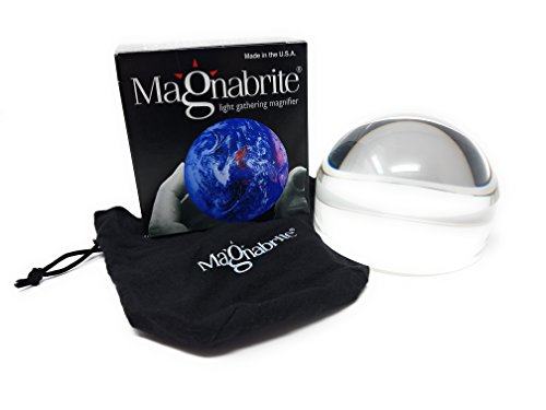 4X Magnabrite Bright Field Dome Magnifier 4.5 Inches by MAGNIFYING AIDS
